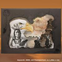 Foto 11 WESTERN-ART , Pferdeportrait und Tierportrait / Malerei auf LEDER und LEDERJACKEN