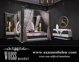 Woiss Möbel Neues Modell Hochglanz Himmelbett Gold Schlafzimmer In