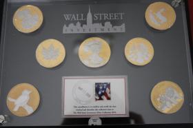 Foto 2 Wallstreet Inv. - 7 X 1 Unzen Mü. in Gold, Platin nur 640 EUR + Porto in Acryllglas verpackt