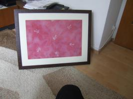 Wandbild Kunstdruck rot