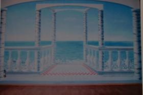 Foto 2 Wandmalerei, Wandgestaltung, Illusionsmalerei.