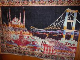 Wandteppich ''Bosporusbrücke'' schwarz, Versand incl.