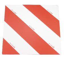 Warntafel rot/weiß 423x423 mm DIN 11030 neu & Top Qualität