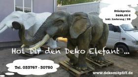 Warum nicht beide Deko Elefant und Deko Holstein Kuh im Garten ???