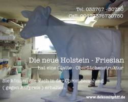 Foto 2 Warum nicht beide Deko Elefant und Deko Holstein Kuh im Garten ???