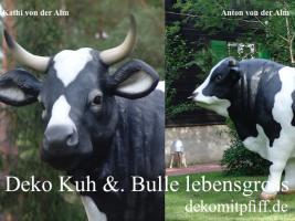 Foto 2 Warum nicht gleich zwei … 1 x Deko Kuh und 1 X Deko Bulle ...