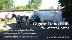 Was Denn Du möchtest ne Deko Kuh die Gross ist ja dann hole Dir doch die Gigant Deko Kuh in Deinen Garten ...