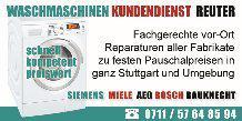 Waschmaschinen Reparatur Reninngen|Aeg, Bosch, Siemens, Miele