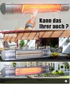 Wasserfeste Infrarotheizstrahler für den Aussenbereich. 1A Qualität. Beste Preis im Internet.