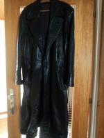 Wehrmachtsmantel Leder Selten Rarität sehr schwer Mantel aus dem 2 Weltkrieg