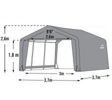 Foto 5 Weidezelt ca.13,7m² ca.3,7 x 3,7 x 2,6 m (LxBxH)