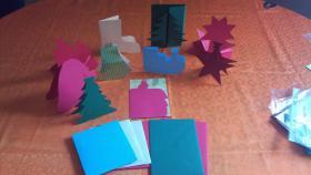 Weihnachten mit besonderen Bastelgrußkarten