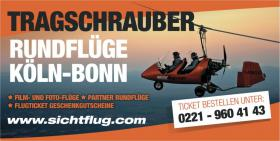 Weihnachtsgeschenk gesucht? -> Tragschrauber Rundflug Geschenkticket Köln/Bonn