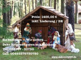 Weihnachtskrippe als Weihnachtsdekoration für Deinen Garten… www.dekomitpfiff.de