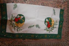 Weihnachtstischdecke rund  83x83cm Neuwertig Markenware Fa. Sander