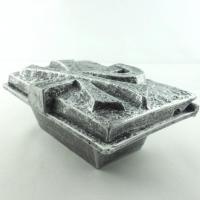 Foto 2 Weihwasserbecken PAX, rechteckiger Weihwasserkessel Silber Anthrazit