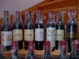 Weine aus dem Bordeaux, verschiedene Jahrgänge