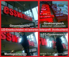 Foto 4 Werbebanner Werbeplane Bannerdruck Foliendruck 3D Plexubuchstaben mit LED Beleuchtung Leuchtbuchstaben Beleuchtete Profilbuchstaben Berlin Leuchtkästen Leuchtschilder Werbeschilder