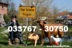 Werbefiguren z.B. ne Deko Kuh lebensgross ...