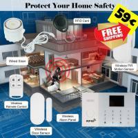 Wireless Alarm Security System GSM&WIFI SMS Auto-dial 59€ frei Haus