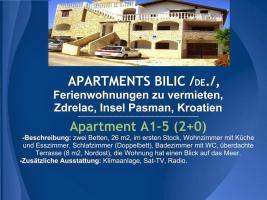 Foto 4 Wohnungen Bilic, Ferienwohnungen zu vermieten, Zdrelac, Insel Pasman, Kroatien