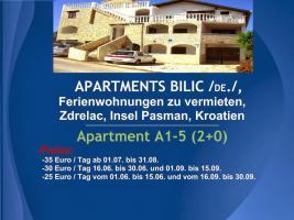 Foto 8 Wohnungen Bilic, Ferienwohnungen zu vermieten, Zdrelac, Insel Pasman, Kroatien