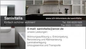 Wohnungs-u. Haushaltsauflösungen, Renovierung, Umzugsservice