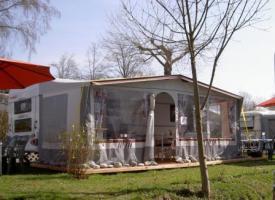 Wohnwagenvermietung am Bodensee komplett eingerichtet