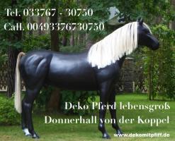 Worauf willst Du warten einfach bestellen das Deko Pferd lebensgross ...