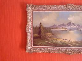 Foto 2 Wunderschöne alte Öl-Landschaftsbild