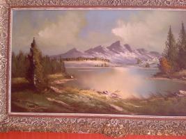 Foto 3 Wunderschöne alte Öl-Landschaftsbild