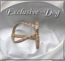 Foto 2 XS Chihuahua Hundegeschirr Brustgeschirr Strass Leder Geschirr ''BS''