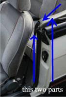 Yugo Cabrio Gurt-Abdeckung siehe Foto! + alle Scheiben