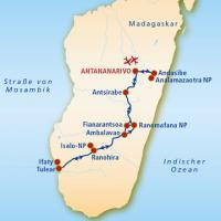 Zahlreiche Highlights Madagaskars auf einer Reise Wanderung durch den Analamazaotra-Nationalpark und Kennenlernen der weltgrößten Lemurenart Besuch der bizarren Sandsteinformationen des Isalo-Nationalparks Erkundung des Reniala-Dornwaldes mit den majestät