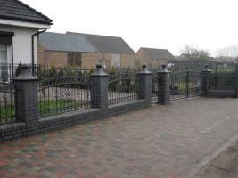 Zaun aus polen, Metallzaune, Carport, Schmiedeeisenzaune