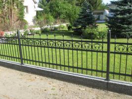 Zaun aus polen, Metallzaune, TORANLAGE Schmiedeeisenzaune