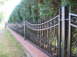 Foto 4 Zaun aus polen, Metallzaune, TORANLAGE Schmiedeeisenzaune
