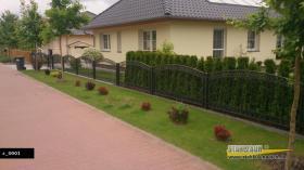 Zaunbau Metallzaun Gartenzaun Schmiedezaun Pforte Tor aus Polen – 15%