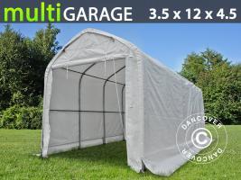 Zelthalle multiGarage 3,5x12x3,5x4,5m, Weiß