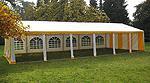 Festzelt - 6 m x 12 m Seite offen