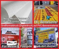 ab 16 € m² Werbebanner Werbeplane PVC Banner LKW Plane Bannerdruck Mesh Foliendruck Grossformatdruck Berlin