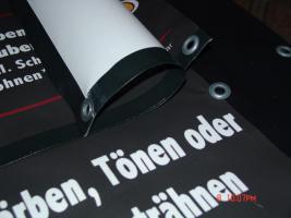 Foto 8 ab 16 €/m² Werbebanner Werbeplane Planendruck Bannerdruck Foliendruck Partybanner PVC Banner LKW Plane Großformatdruck Megaposter Berlin Werbung