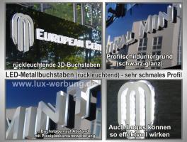 Foto 5 ab 59 €/m² Schilder Werbeschilder Bauschilder Infoschilder Praxisschilder Dibond Dibondschilder Leuchtschilder Leuchtwerbung Außenwerbung Leuchtreklame Leuchtbuchstaben 3D Beleuchtete Plexibuchstaben Berlin