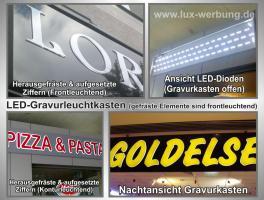 Foto 12 ab 59 €/m² Schilder Werbeschilder Bauschilder Infoschilder Praxisschilder Dibond Dibondschilder Leuchtschilder Leuchtwerbung Außenwerbung Leuchtreklame Leuchtbuchstaben 3D Beleuchtete Plexibuchstaben Berlin