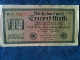 Foto 2 alte banknoten (geldscheine)