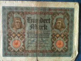 Foto 4 alte banknoten (geldscheine)
