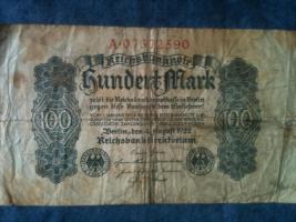 Foto 6 alte banknoten (geldscheine)