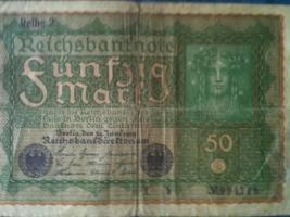 Foto 8 alte banknoten (geldscheine)