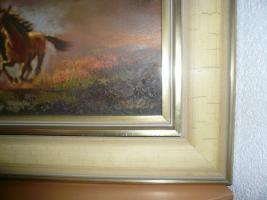 Foto 2 altes Gemälde, Öl auf Leinen , signiert Koller