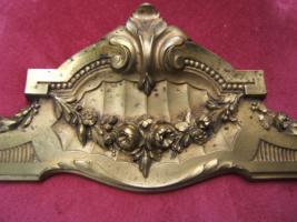 Foto 2 antike Bronze Applikation 33 x 12 cm  -400 g
